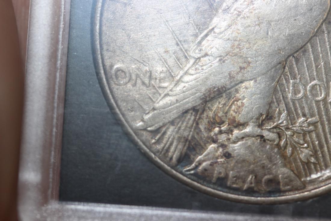 A 1923-S Peace Silver Dollar - 3