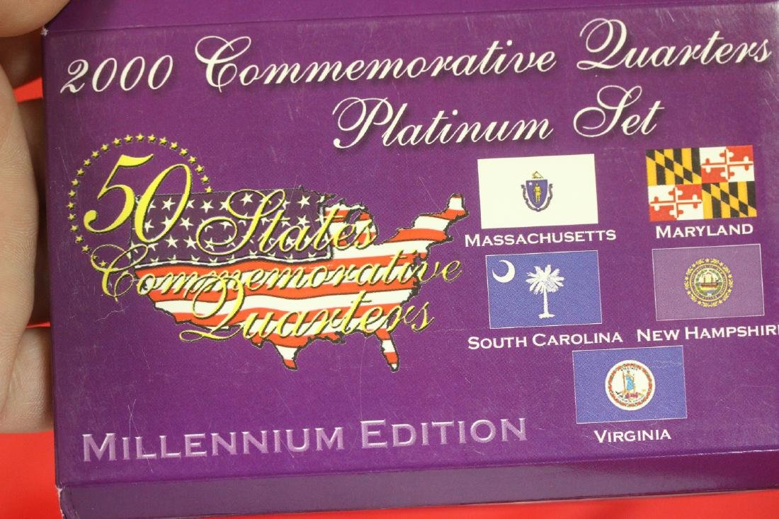 2000 Commemorative Quarters Platinum Set - 2
