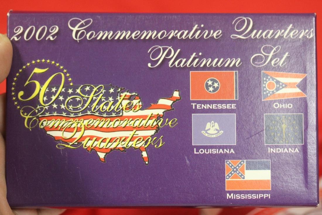 2002 Commemorative Quarters Platinum Set