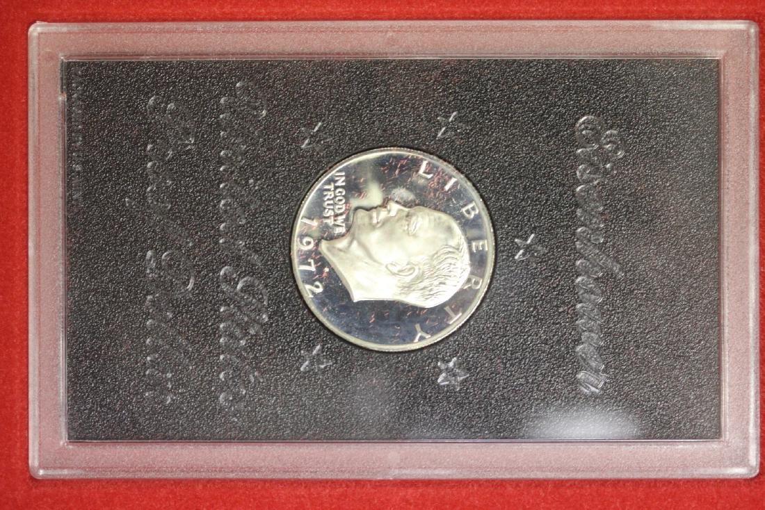 A 1972-S Cased Ike Silver Dollar