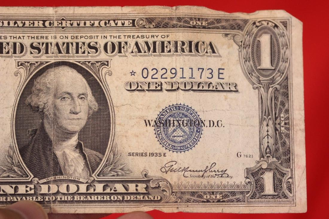 A Star Note - One Dollar Blue Seal - 2