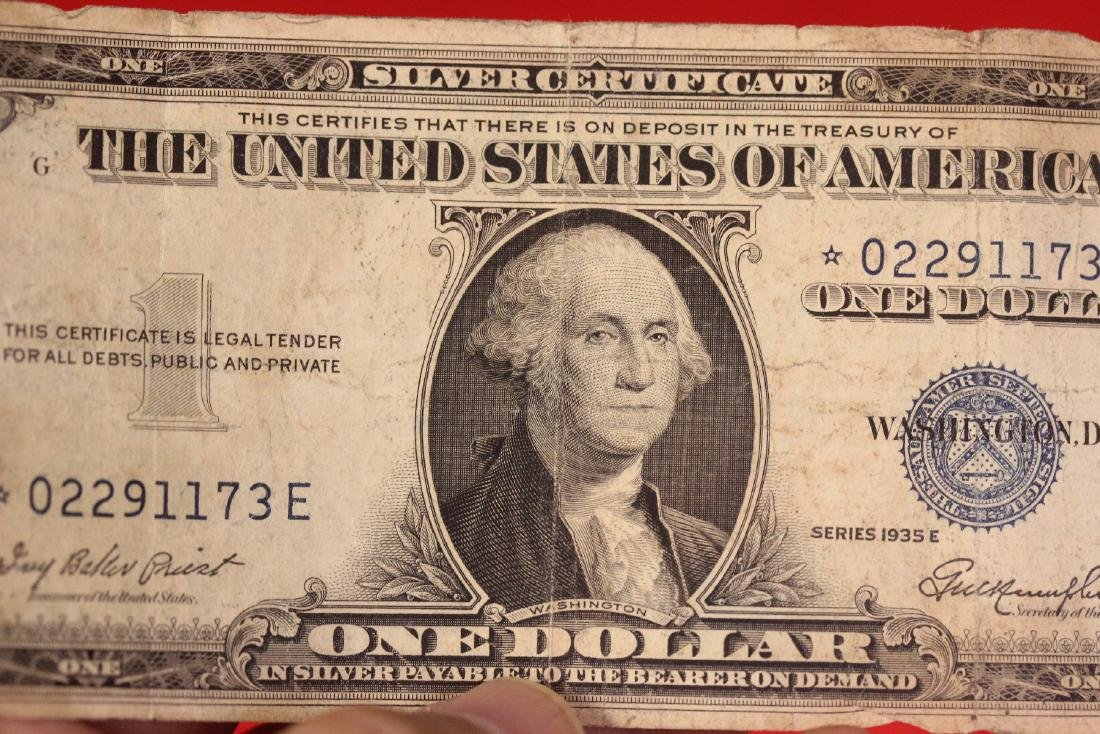 A Star Note - One Dollar Blue Seal - 3