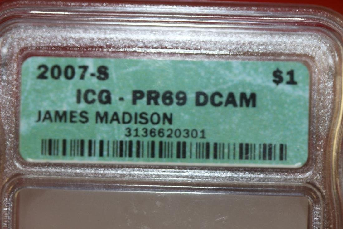 A Graded 2007-S James Madison Dollar - 2