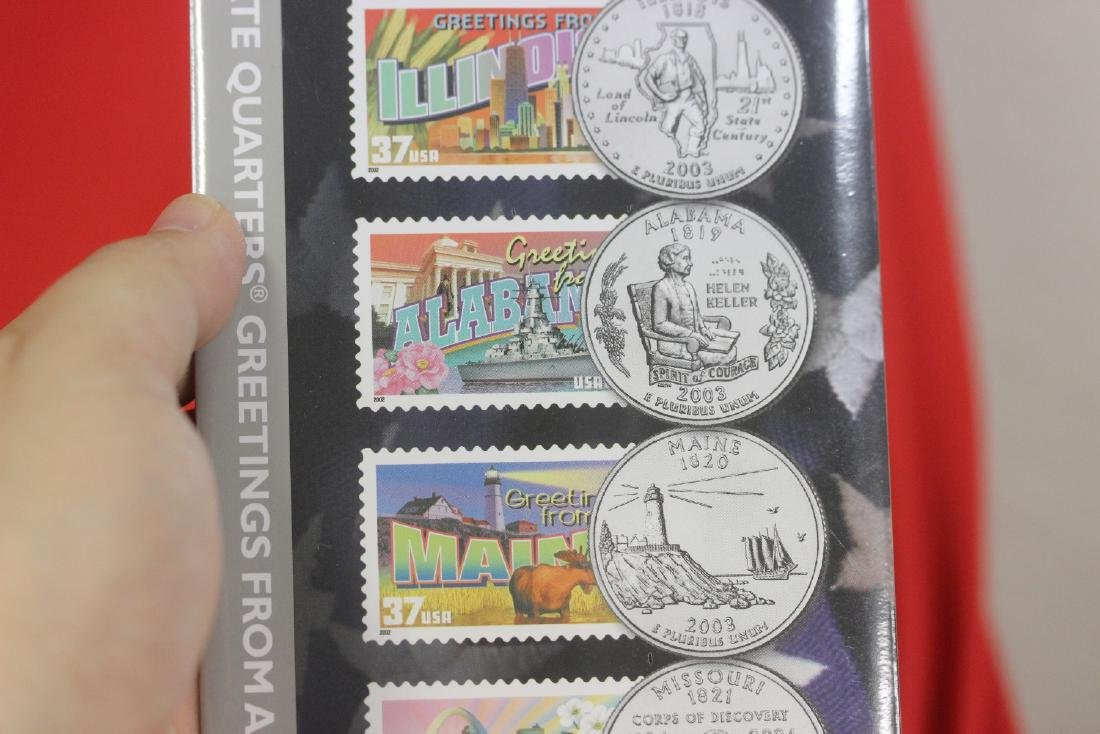 2003 50 State Quarters and Stamp Set - 2