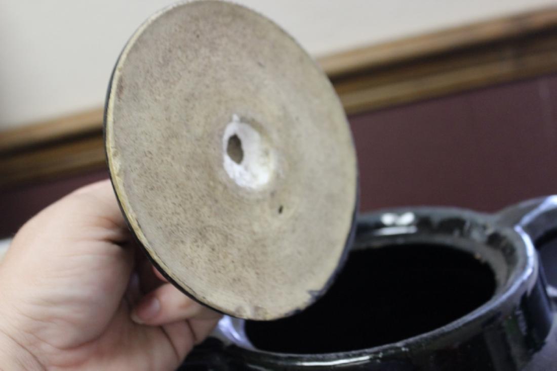 An Antique/Vintage Bean? Pot with Handle - 3
