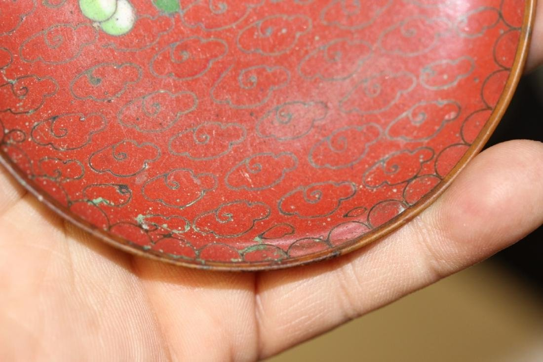 A Chinese Cloisonne Small Sauce Dish - 10