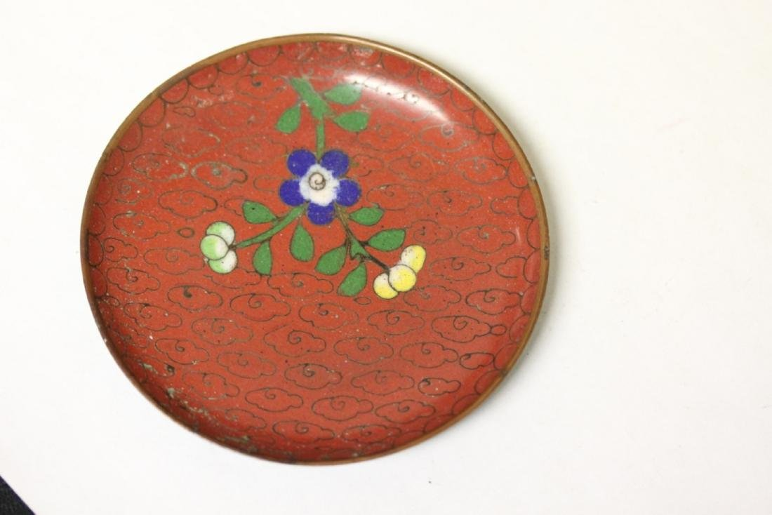 A Chinese Cloisonne Small Sauce Dish