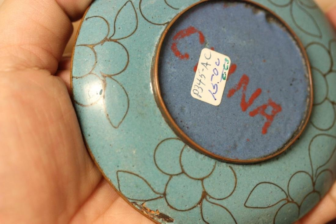 A Chinese Cloisonne Small Sauce Dish - 4