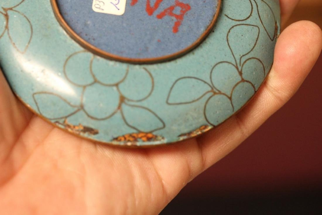 A Chinese Cloisonne Small Sauce Dish - 5