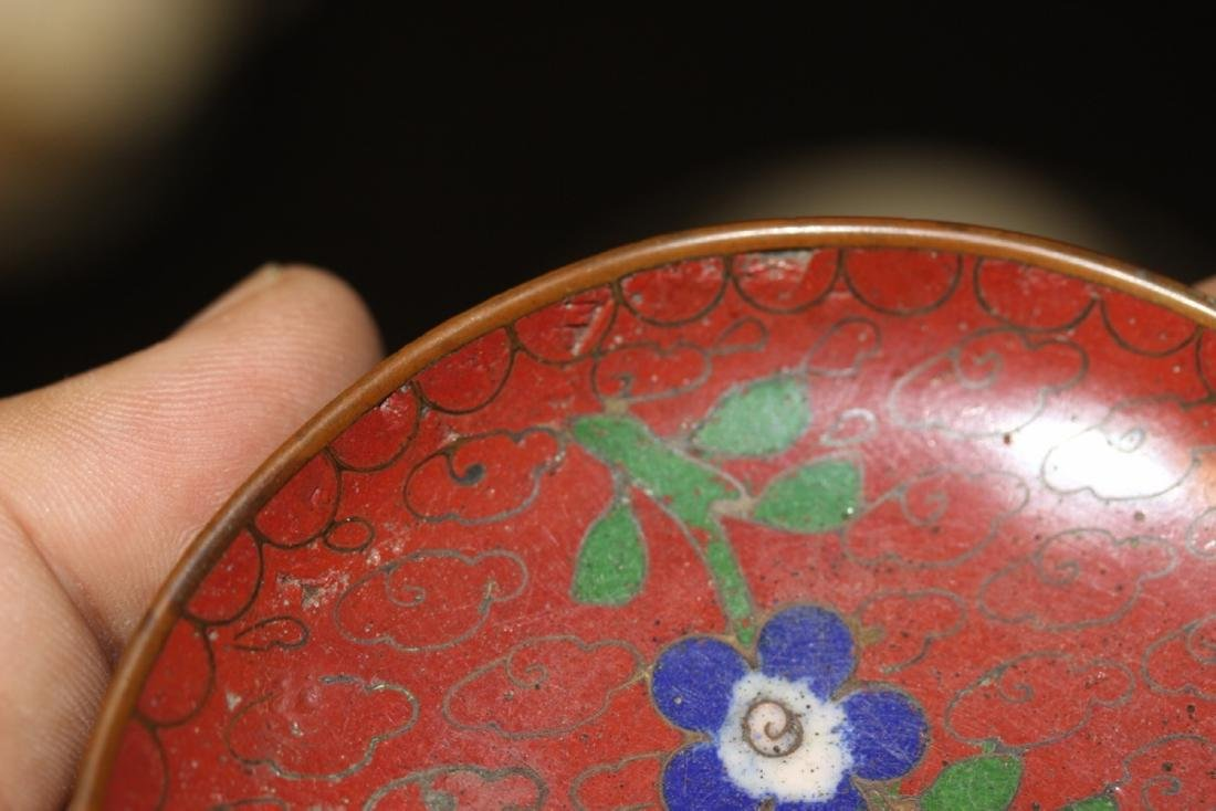 A Chinese Cloisonne Small Sauce Dish - 8
