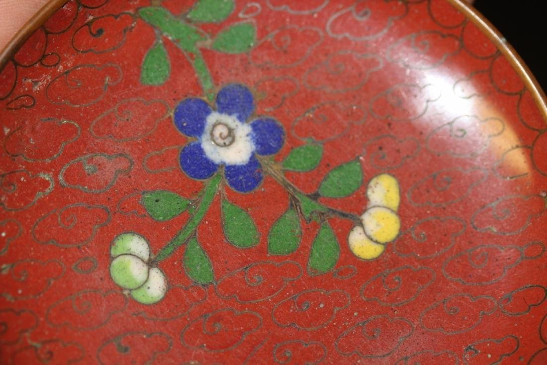 A Chinese Cloisonne Small Sauce Dish - 9