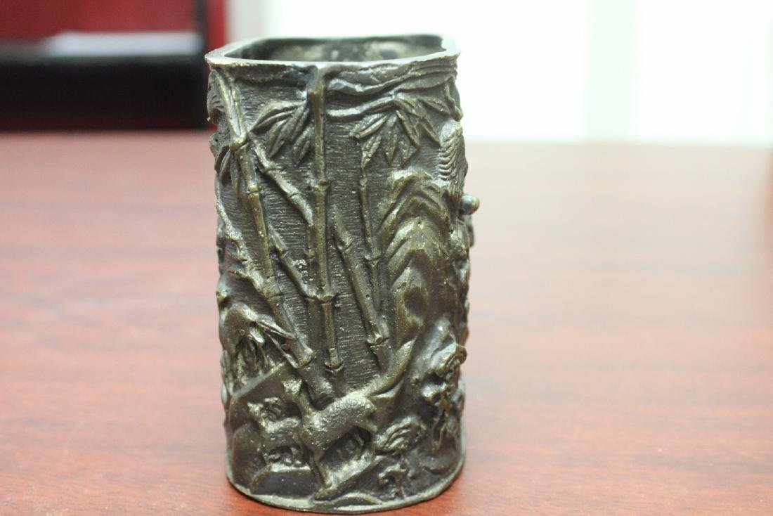 A Vintage Bronze/Brass Container - 3