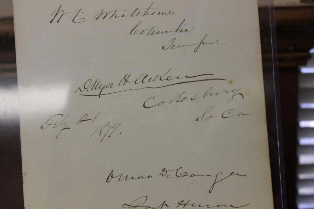 U.S. Historical Autograph Page