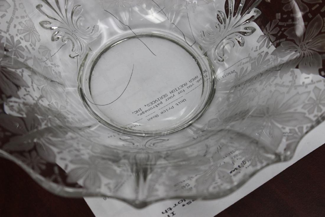 Acid Etched Glass Bowl - 2