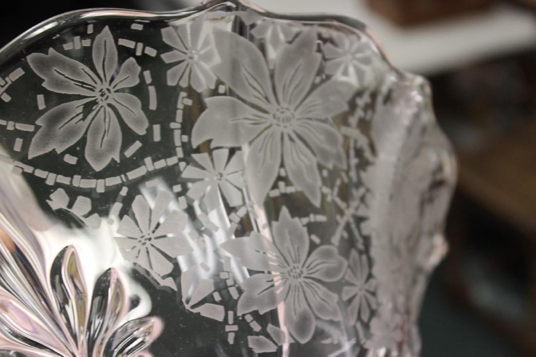 Acid Etched Glass Bowl - 3