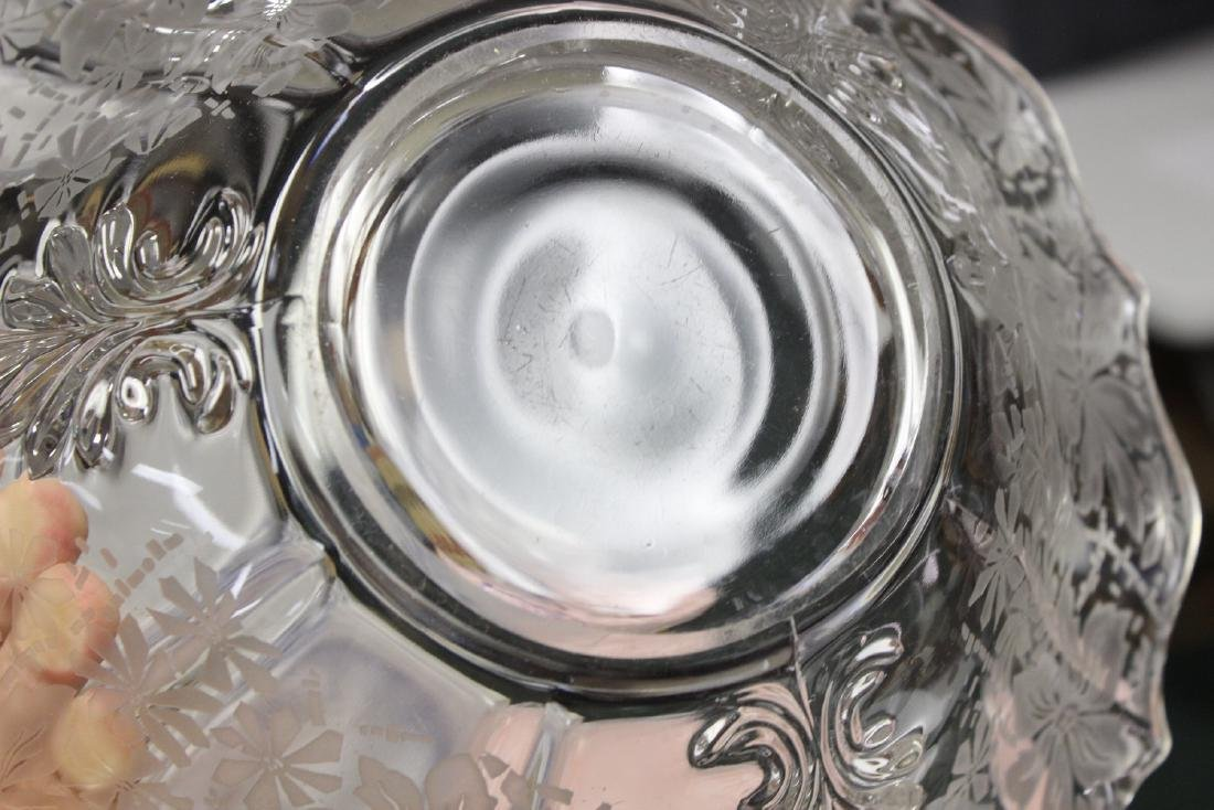 Acid Etched Glass Bowl - 5