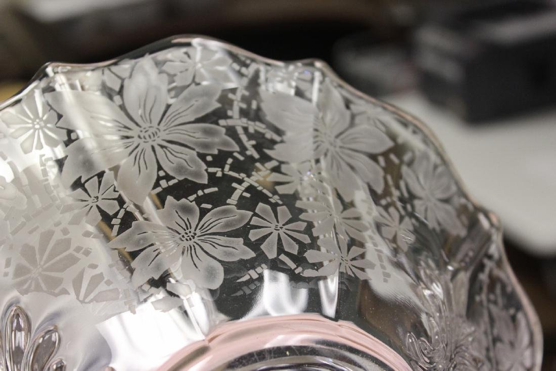 Acid Etched Glass Bowl - 7