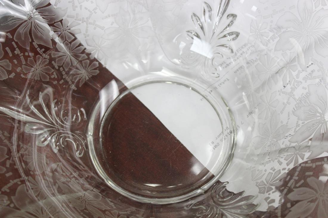 Acid Etched Glass Bowl - 8