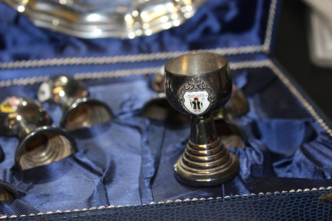A Silverplated Enamel Cup/Plate Set - 5