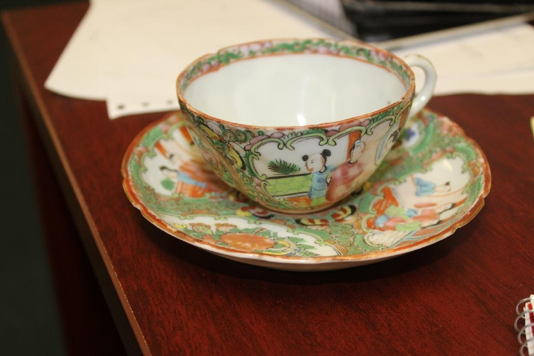 A Chinese Rose Medallion Teacup