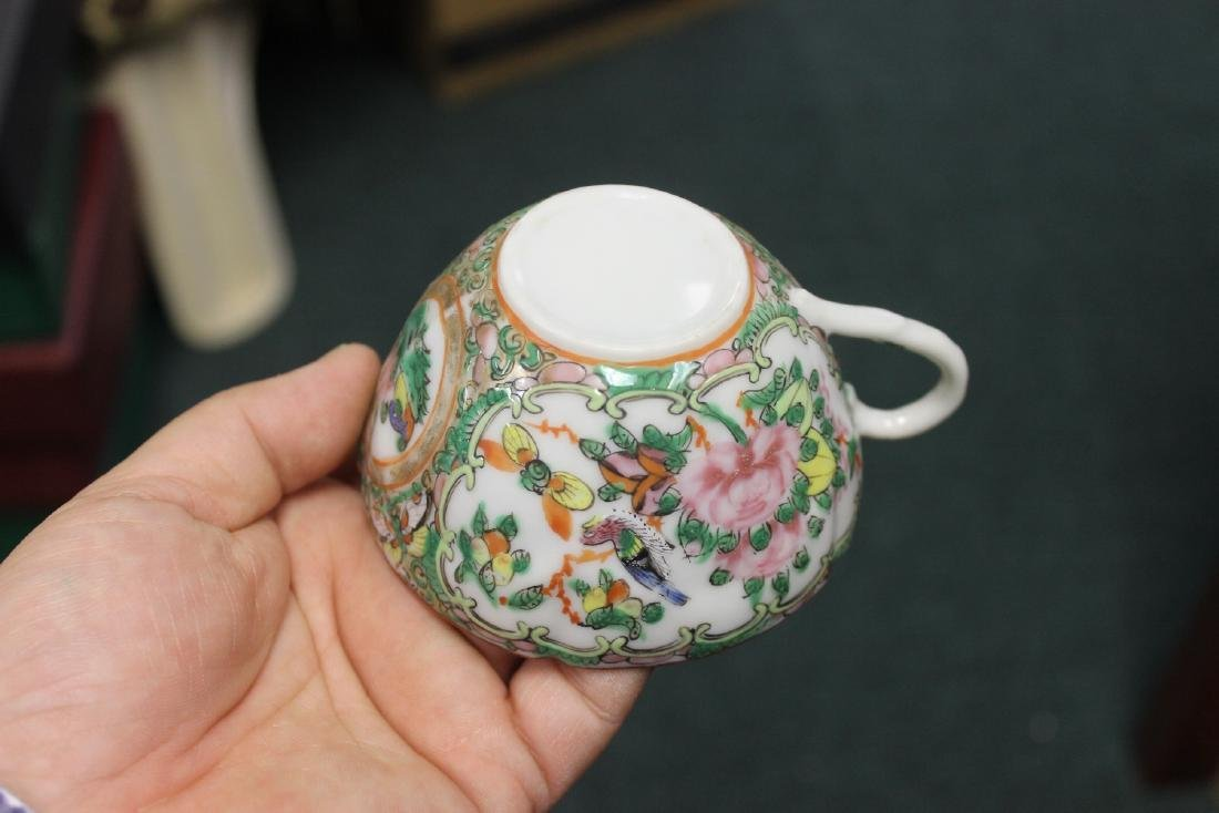 A Chinese Rose Medallion Teacup - 2