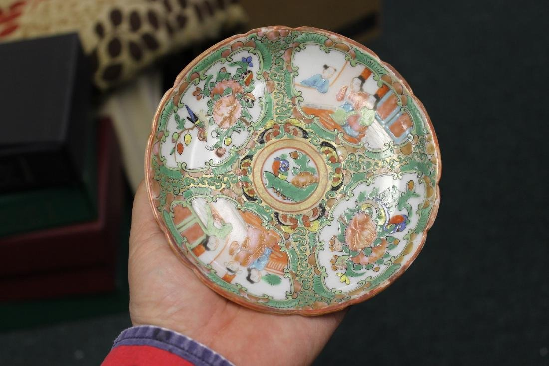 A Chinese Rose Medallion Teacup - 3