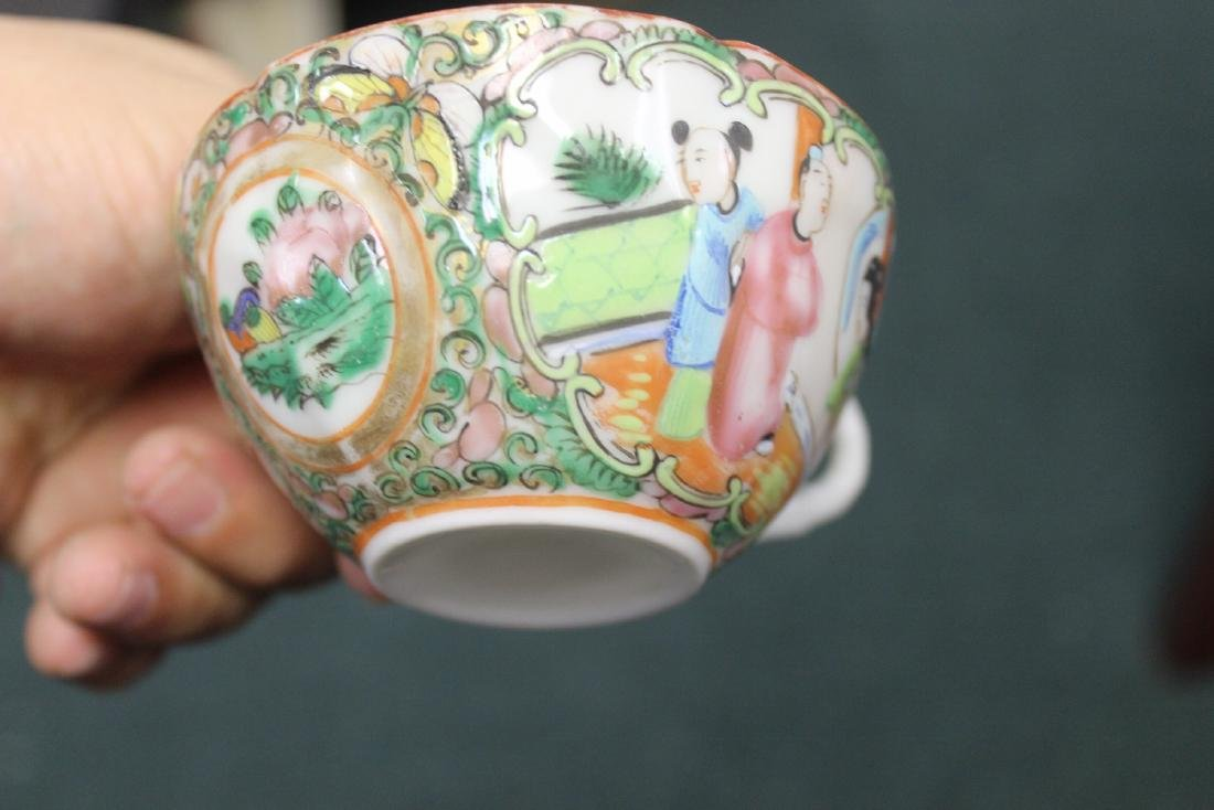 A Chinese Rose Medallion Teacup - 6