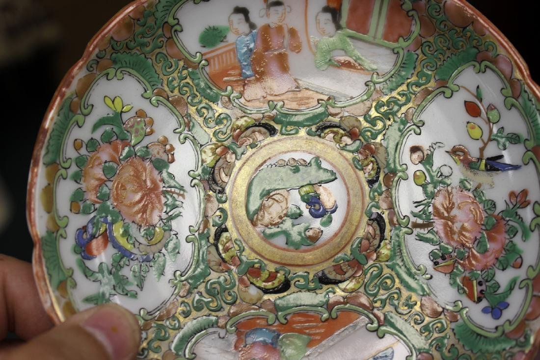 A Chinese Rose Medallion Teacup - 7