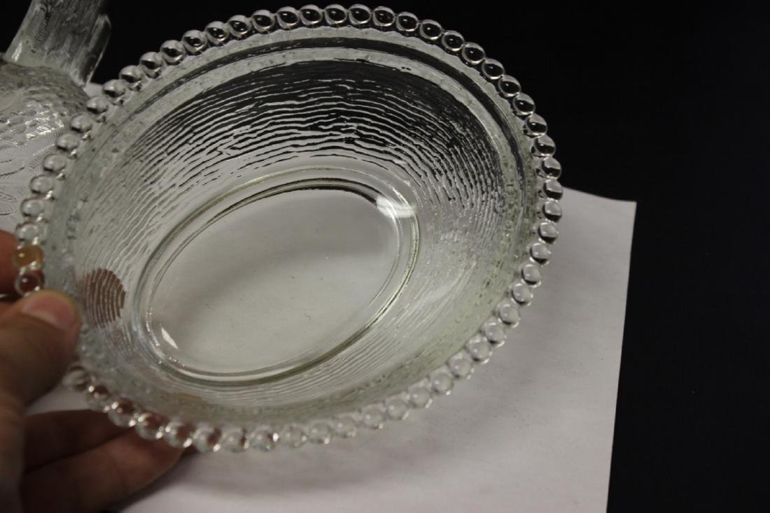 A Clear Glass Fenton(?) Chicken Candy Dish - 5