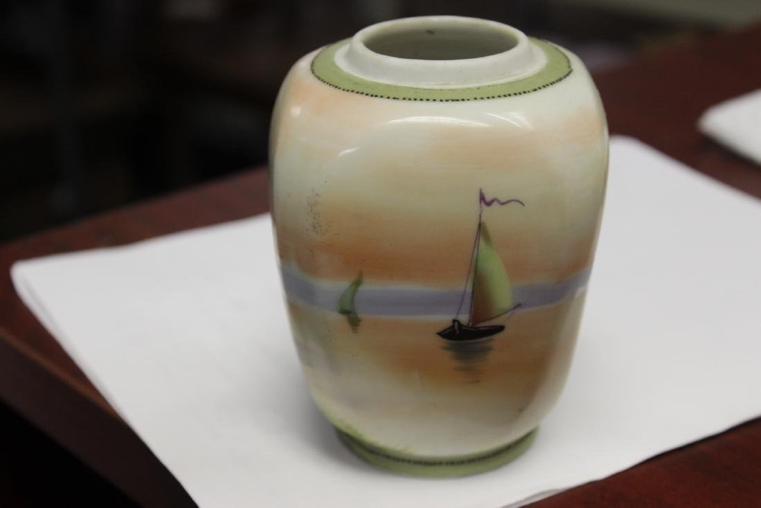 A Hand Painted Nippon Jar