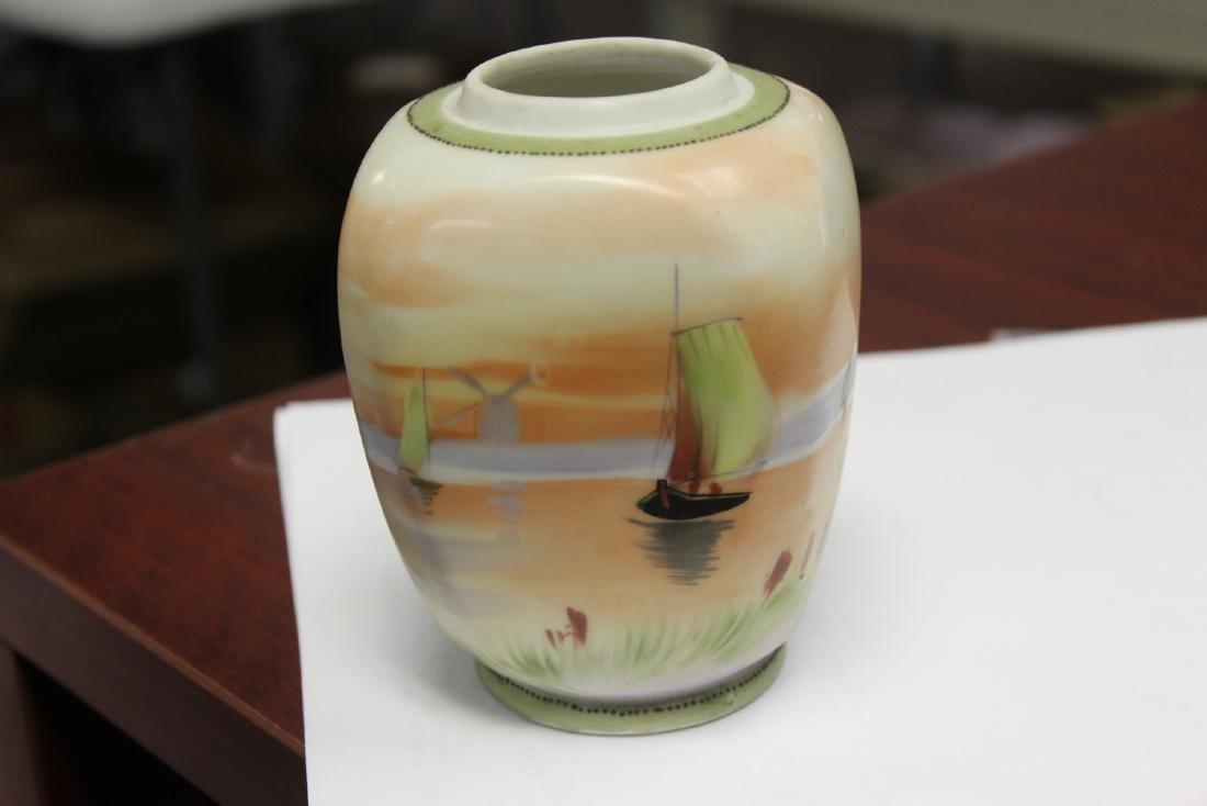 A Hand Painted Nippon Jar - 2