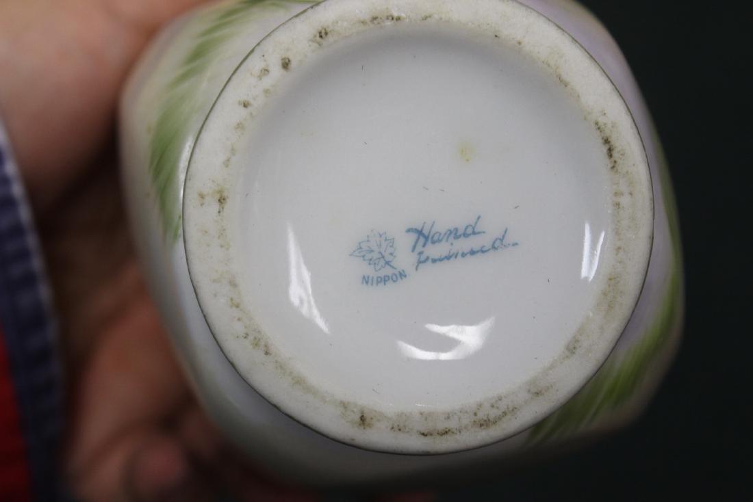 A Hand Painted Nippon Jar - 5