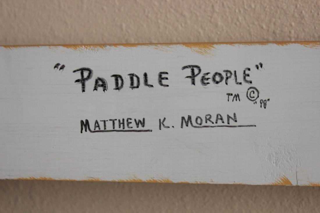 """Paddle People"" Pop Art Wood Panel by Moran - 5"