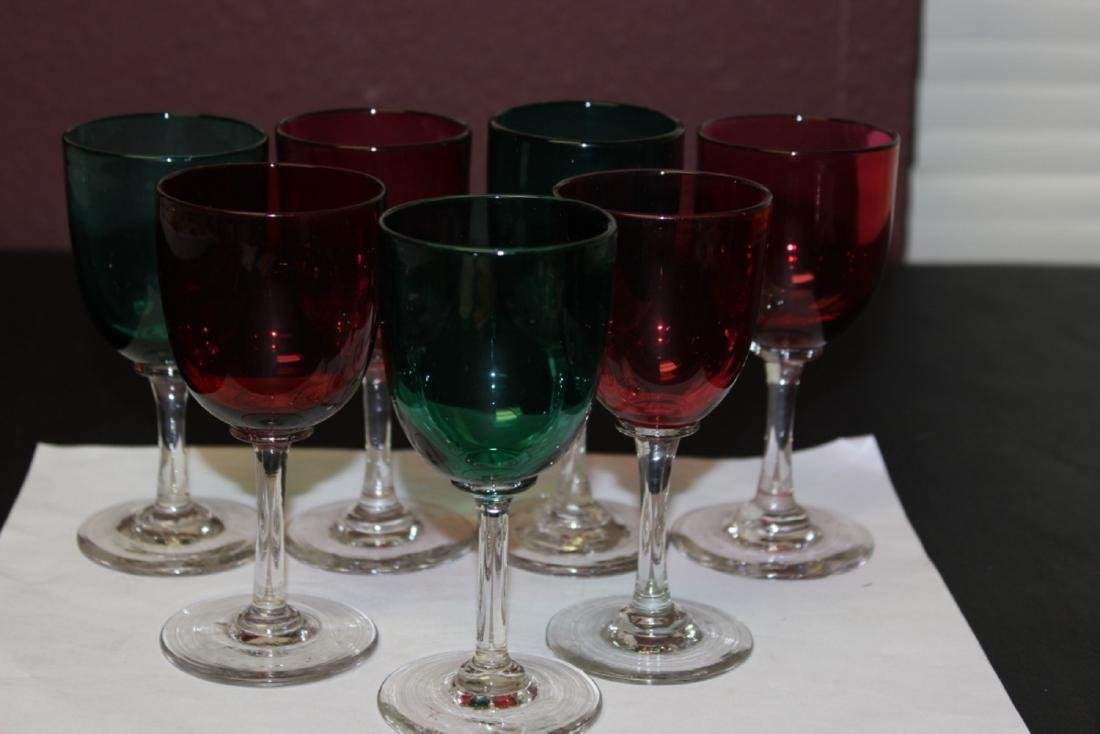 Lot of 7 Colour Goblets