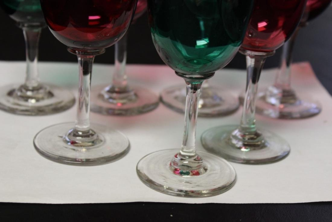 Lot of 7 Colour Goblets - 2