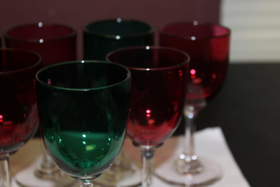 Lot of 7 Colour Goblets - 3