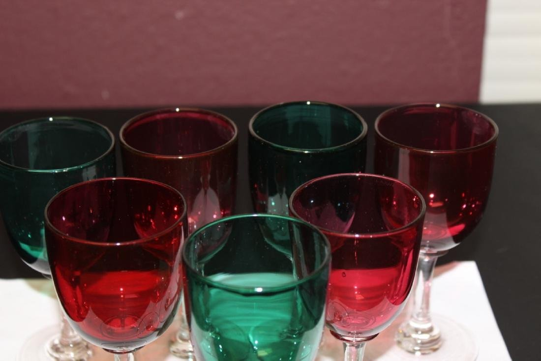 Lot of 7 Colour Goblets - 4