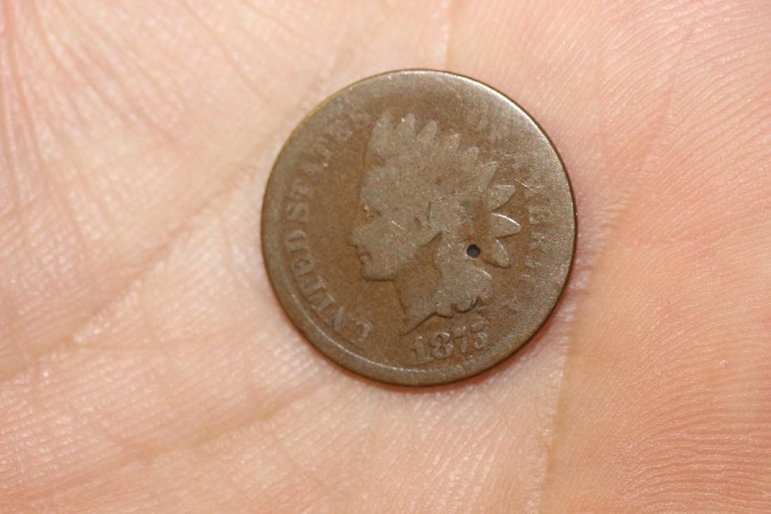 An 1875 Indian Head Penny