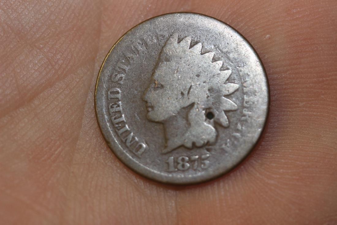 An 1875 Indian Head Penny - 3