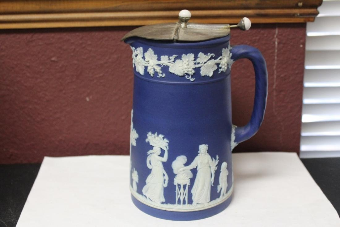 An Antique Wedgwood Jasperware Pitcher