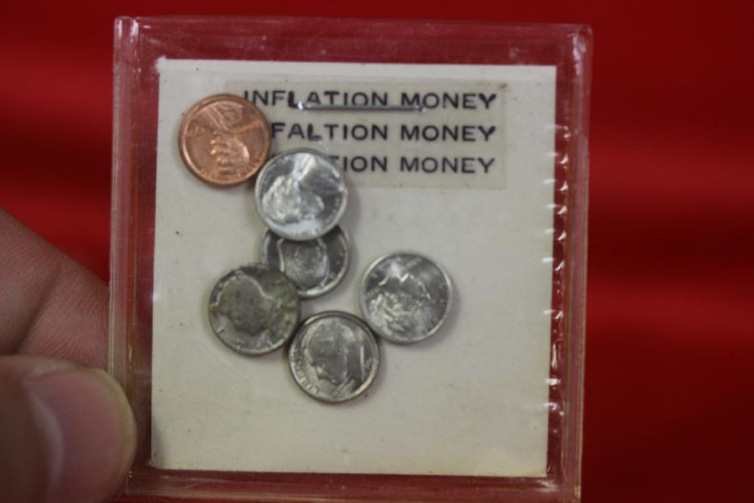 Lot of 6 Miniature Inflation Money