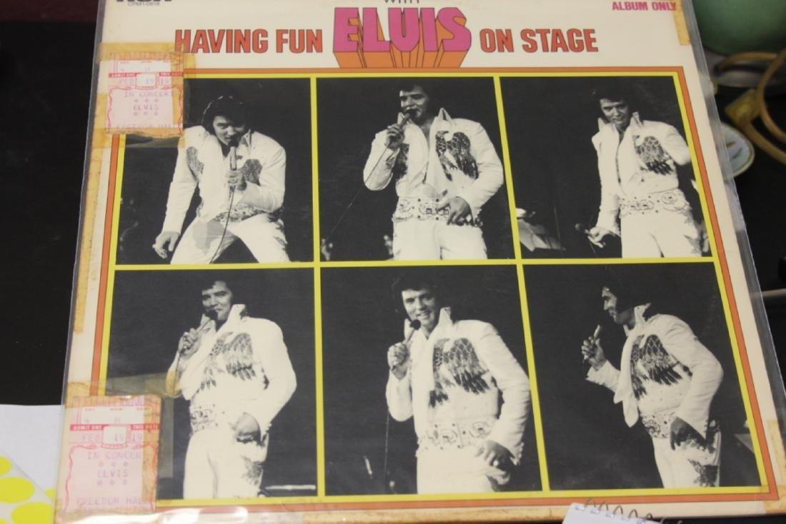 Rare Elvis Album with Two Used Elvis Concert Tickets