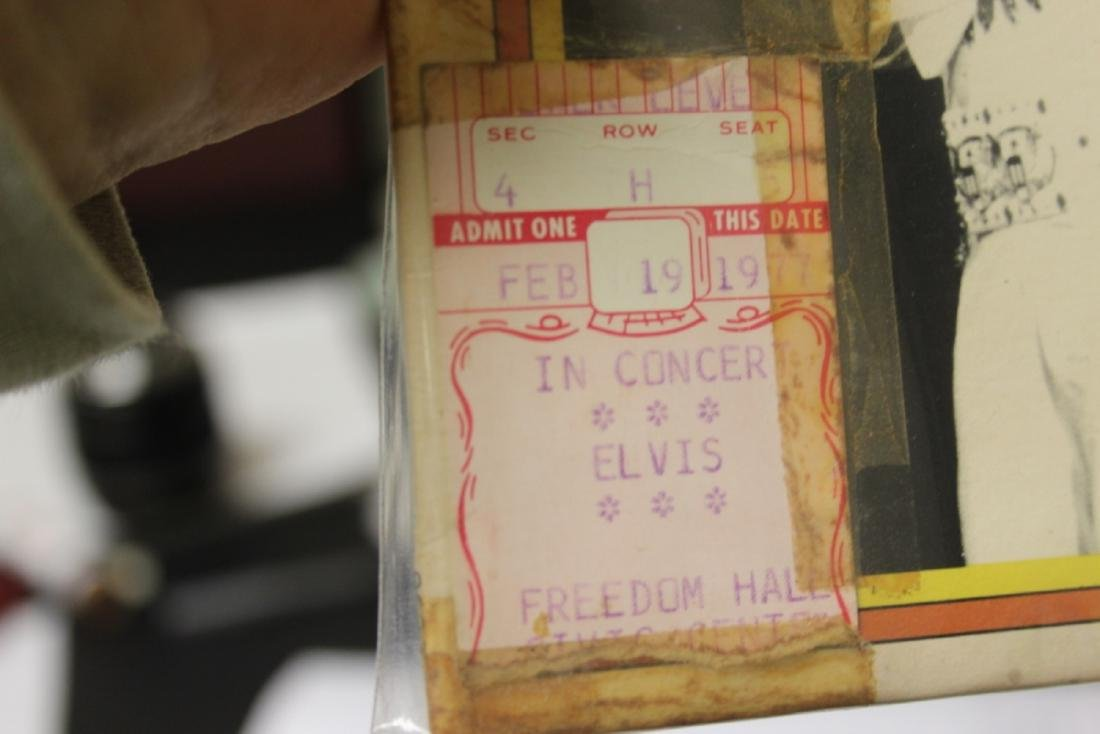 Rare Elvis Album with Two Used Elvis Concert Tickets - 3