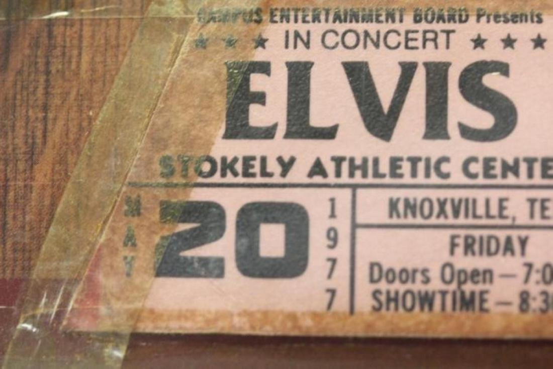 Elvis Presley Album with Rare Concert Ticket - 3