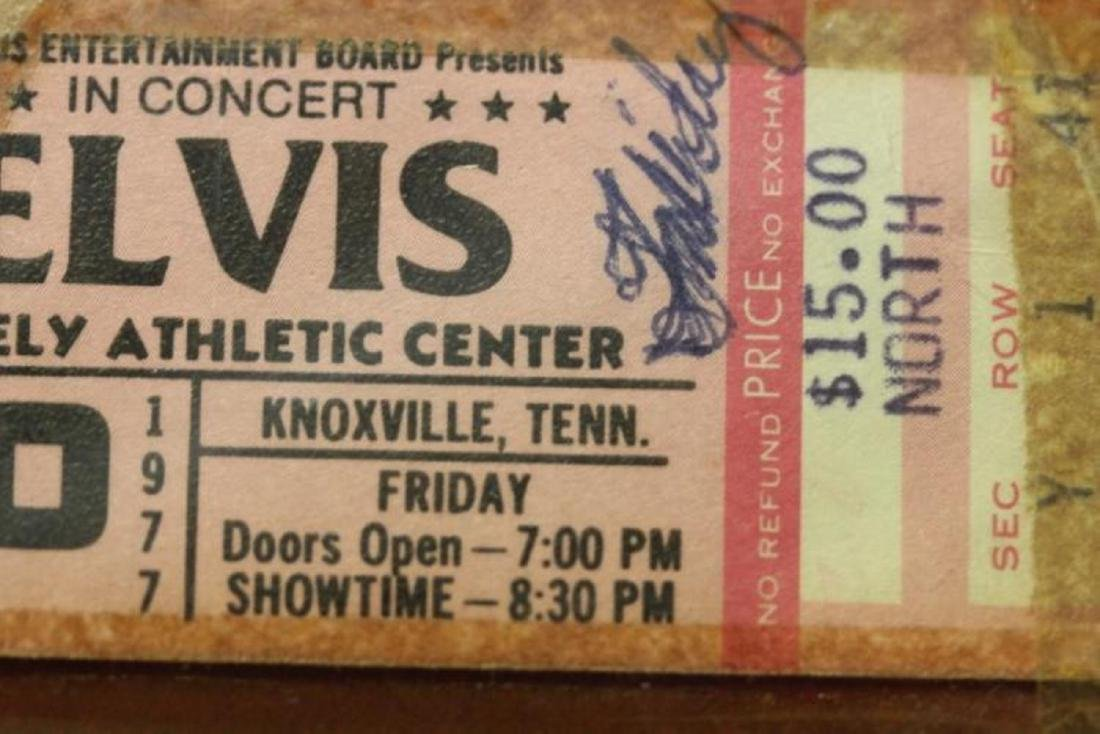 Elvis Presley Album with Rare Concert Ticket - 4
