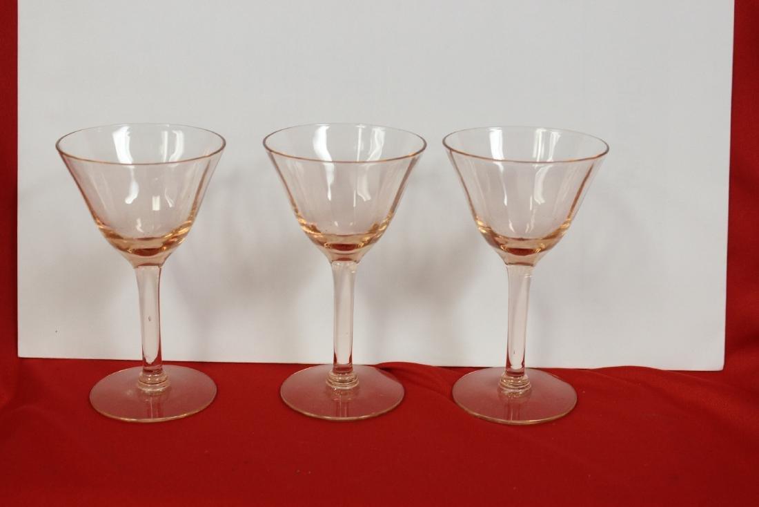 Lot of 3 Wine Glasses