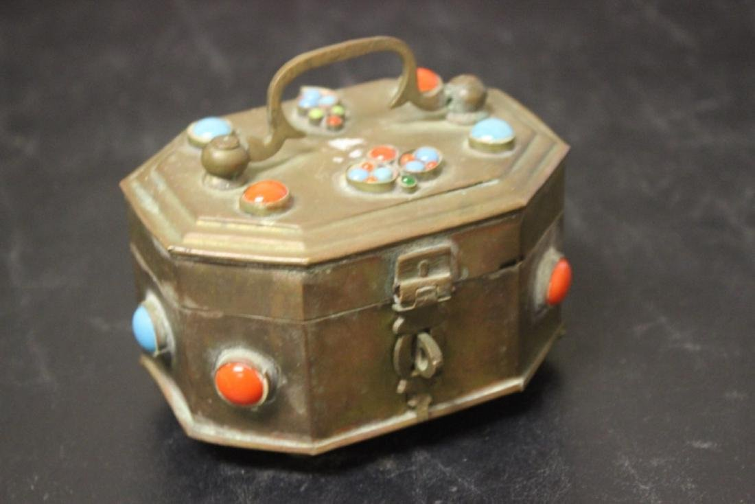 A Metal and Torquise Box