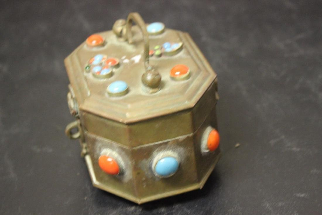 A Metal and Torquise Box - 2