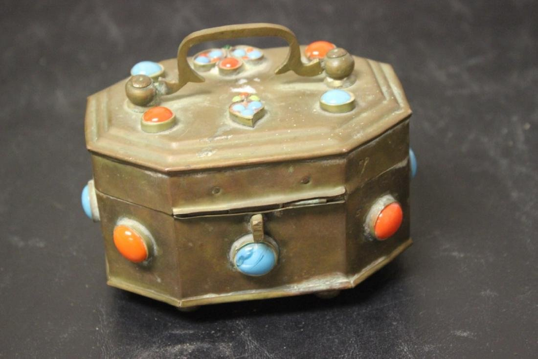 A Metal and Torquise Box - 3
