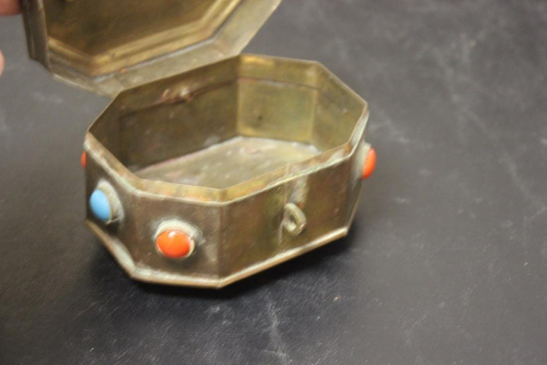 A Metal and Torquise Box - 4